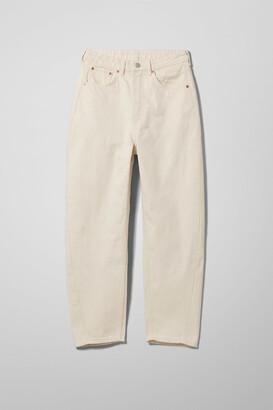 Weekday Meg High Mom Jeans - Beige