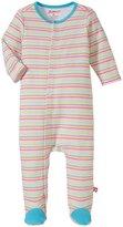 Zutano Rainbow Candy Stripe Footie (Baby) - Rainbow - 3 Months