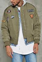 Forever 21 Hype Patch Bomber Jacket