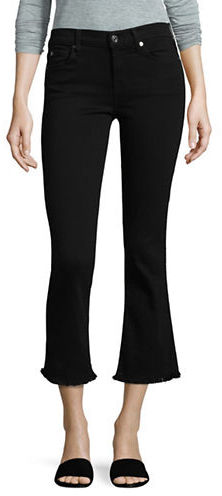 7 For All Mankind Cropped Bootcut Raw-Hem Jeans