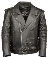 Milwaukee Leather Mens Classic Leather Side Lace Motorcycle Jacket