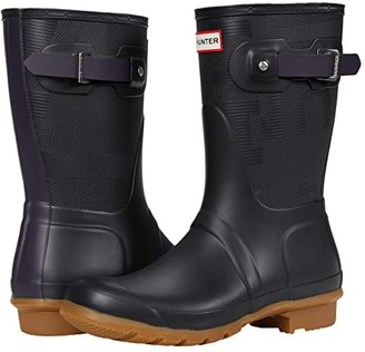 Hunter Short Exploded Logo Texture Boot (Black/Kombu) Women's Boots