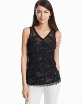 White House Black Market Lace Shell Top
