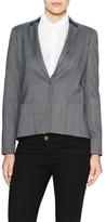 Elie Tahari Ellen Sharkskin Zipped Back Jacket