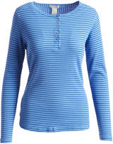 Caribbean Joe Blue Haze Stripe Henley Tee - Plus Too