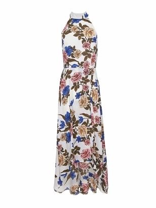 Yumi Women's Filtered Floral High Low Dress Casual