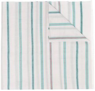 Paul Smith Frayed-Edge Stripe Print Scarf