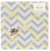 JoJo Designs Sweet Gray Yellow ZigZag Photo Memo Board