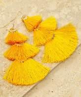 LA3accessories Women's Earrings MUSTARD - Mustard & Goldtone Tassel Tier Drop Earrings