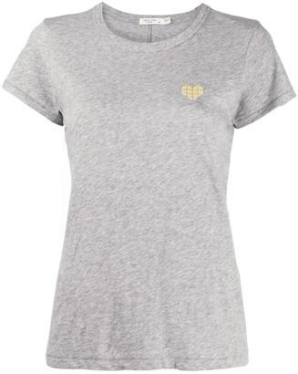 Rag & Bone heart motif T-shirt
