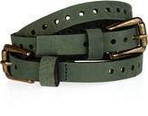 Paul & Joe Sister Double-buckle suede belt
