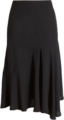 Halogen Asymmetrical Midi Skirt