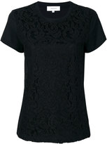 Carven lace overlay T-shirt - women - Cotton - XS