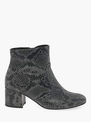 Gabor Cruise Block Heel Leather Ankle Boots, Grey