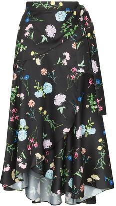 Paper London Fresa floral print midi-skirt