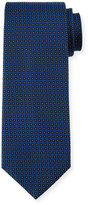 HUGO BOSS Geo-Dot Silk Tie, Blue