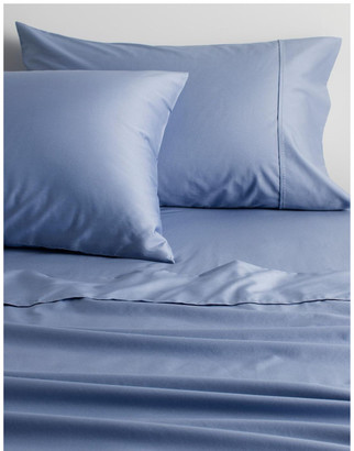 Sheridan Organic Cotton Sateen 400TC Sheet Set in Blue Reef Blue King Single