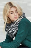 La Hearts Houndstooth Brushed Infinity Scarf
