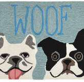Liora Manné Trans Ocean Imports Front Porch ''Woof'' Indoor Outdoor Rug
