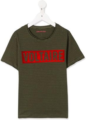Zadig & Voltaire Kids Kita striped T-shirt