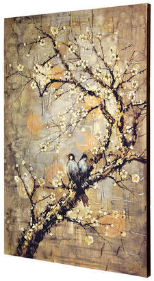 Stylecraft Home Collection Birds On Branch, Hand Embellished, Stretched Canvas Wall Art