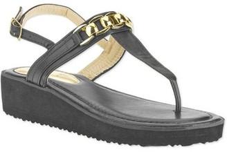 Victoria K. Women's Fashion Chain Link Strap Sandal