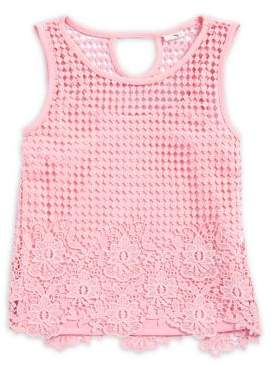 Jessica Simpson Girl's Lace Tank Top