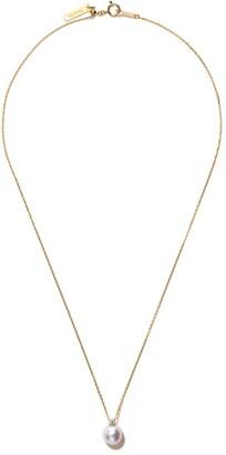 TASAKI 18kt yellow gold Basic Akoya pearl and diamond pendant necklace
