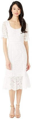 BB Dakota Just In Lace Puff Sleeve Lace Dress (Ivory) Women's Clothing