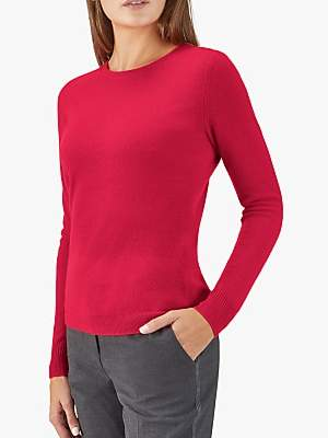 Pure Collection Cashmere Drop Sleeve Jumper, Pillarbox Red