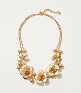 LOFT Metallic Floral Necklace