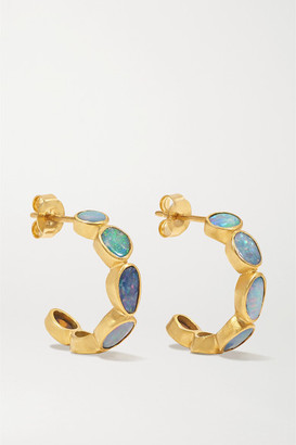 Pippa Small 18-karat Gold Opal Earrings