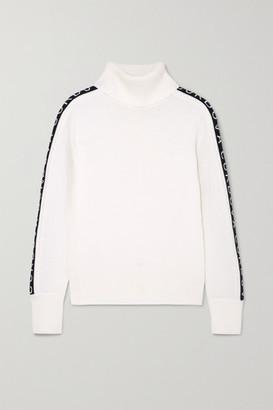 Cordova Intarsia Merino Wool Turtleneck Sweater - White
