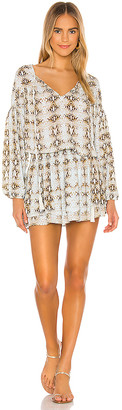 Indah Sashi Blouson Mini Dress
