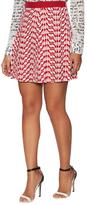 RED Valentino Pleated Silk Skirt