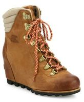 Sorel Conquest Waterproof Leather Wedge Booties
