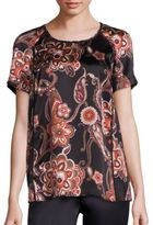 Lafayette 148 New York Silk Paisley-Print Kate Blouse