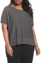 Eileen Fisher Plus Size Women's Tencel & Merino Wool Top