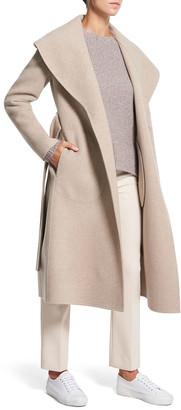 Theory Shawl Wool Long Coat