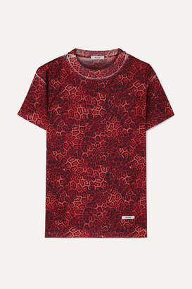 Blouse BLOUSE - Castiglione Leopard-print Jersey T-shirt - Red
