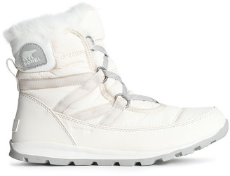 Sorel Whitney Faux Fur-trimmed Shell Snow Boots