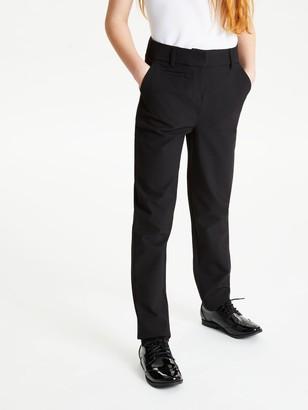 John Lewis & Partners Girls' Adjustable Waist Slim Fit Trousers