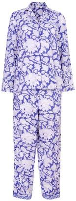 Nologo Chic Hand Printed Pj'S - Cotton - China Blue