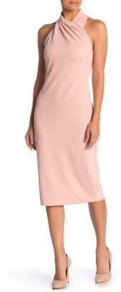 Rachel Roy Wrap Neck Sheath Dress