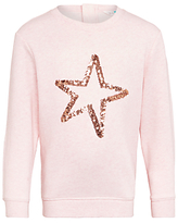 John Lewis Girls' Star Print Sweatshirt, Pink