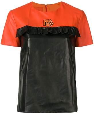 Prada leather T-shirt