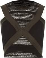 River Island Womens Khaki green sleeveless bandage crop top