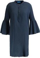 MiH Jeans Beck Crinkled Cotton Mini Shirt Dress