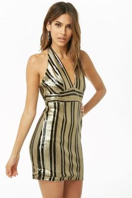 Forever 21 Sequin Halter Dress