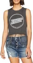 5 Seconds Of Summer Women's Derping Stamp Vintage Vest Top
